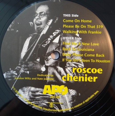 Roscoe Chenier: Roscoe Chenier Direct-To-Disc