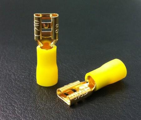 Avtagbare spade-kontakter ( for høyttalerelementer, høyttalerterminaler mm... )