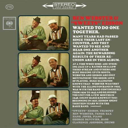"Ben Webster & ""Sweets"" Edison: Wanted To Do One Together"